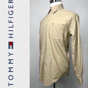TOMMY HILFIGER Gent's Stretch Dress Shirt Sz M